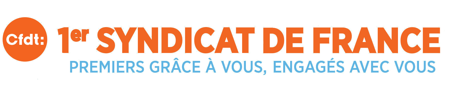 Logo CFDT premier syndicat en France